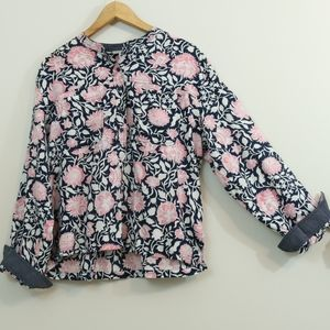 Lucky Brand Cotton Printed Popover Top